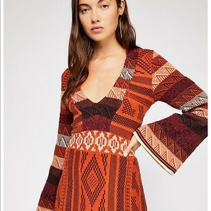 Free people patchwork sweater dress med new 🌟🌟